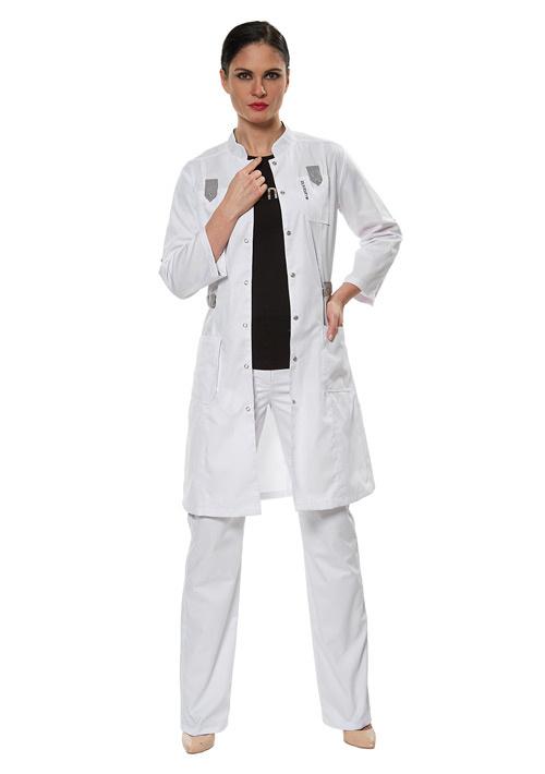 Модный медицинский халат LL1107