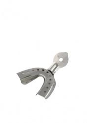 Ложка оттискная стоматологическая, металическая для нижней челюсти №3